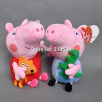 "Free Shpping 2 pcs/Set Peppa Pig Plush Doll Stuffed Toy Peppa & GEORGE 7""(18CM)#1 Retail"