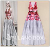 2015 runway dress women's High quality  dresses brand dresses M011211