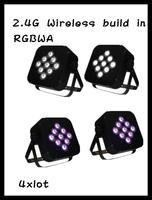 Free shipping 9*15W RGBAW wireless led par light led par can high quality led par cannon led par 64 4pcs/lot