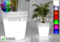 Free Shipping Glowing lighting LED flower pot, RGB led flower pot ,led round vase,LED beer barrel