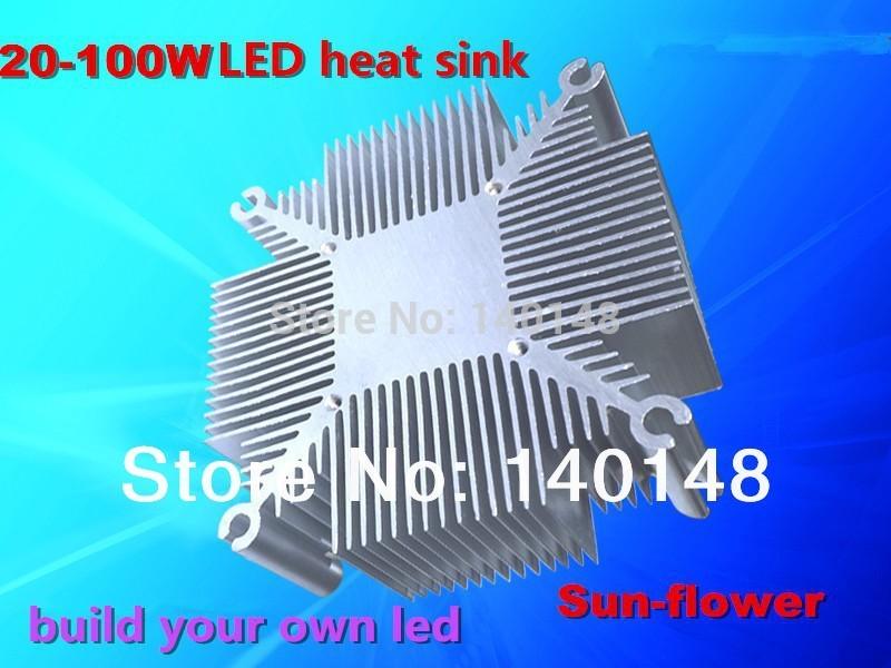 Hot sell 50w 100w high power led heatsink Pure aluminium heat sink for cob led cooling DIY Led Light fixture(China (Mainland))