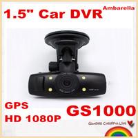 "Free shipping! Ambarella A2 GS1000 1.5"" Car DVR recorder car camera full HD 1080P 30fps LCD built in GPS Wide Angle night vision"
