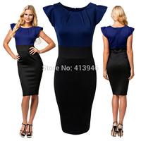 2015 New fashion dress casual women's slim dress Vestido Moda Patry dresses sexy dress work dress European Style Slim  Dress