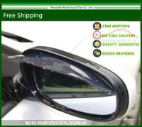 Free Shipping 2pcs/Lot Car universal Rain Shield Flexible Peucine Car Rear Mirror Guard Rearview mirror Rain Shade