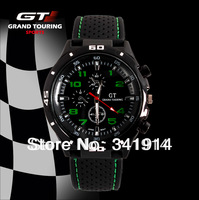 Sport WATCH Military Pilot Aviator Army Style Silicone For Watches Men RACER 1PC Free shipping CN0309-3