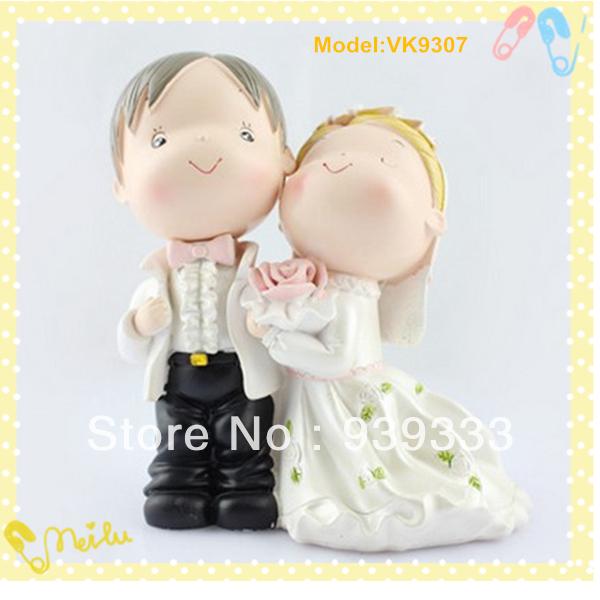 Polyresin wedding gift, resin wedding figurine, in stock, 24pcs free shipping by DHL, handicraft for wedding, wedding decoration(China (Mainland))