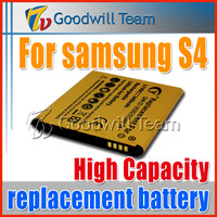 Hot sale High Capacity Gold 3450mAh Battery Replacement Battery For Samsung Galaxy S4 i9500  free ship