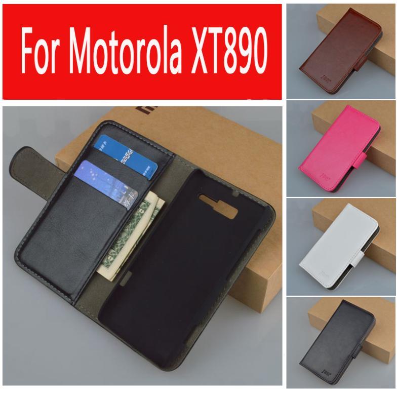 Leather Flip Case For Motorola Razr i XT890 Cover Skin, Leather with Card Holder,(China (Mainland))