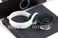Detachable Clip-on  Fish Eye Lens for Iphone 4 4G 4S 5 5G Samsung Galaxy I9300