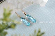 Delicate Large zircon Earrings WATER DROP Gift to girlfriend is beautiful Pure handmade fashionable elegance