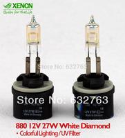 2pcs XENCN H27W 880 12V 27W White Diamond Light Colorful Lighting Car Bulbs Brand Hot Sale Quality Fog Lamps Free Shipping