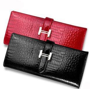 2014 Women Genuine Leather Wallet women wallets retro brand Designer purse crocodile ...