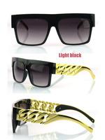 Kim kardashian Celebrities Metal Gold Chain Big Gold Earstems metal sunglasses retro heavy metal rock Retro glass oculos de sol