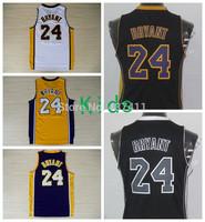 Kobe Bryant Kids Jerseys, #24 Kobe Bryant White Yellow Purple Black Rev 30 Youth Basketball Jersey ,Size: S-XL,Free Shipping