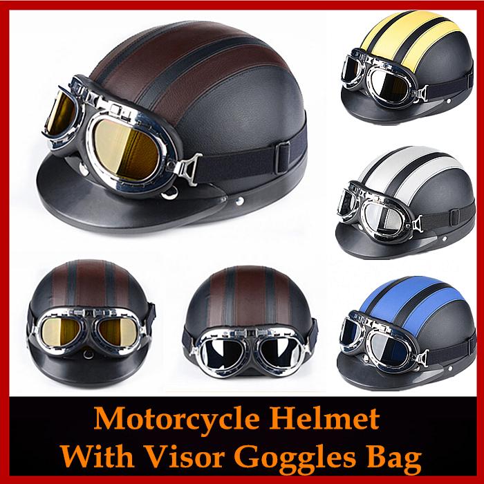 Motorcycle Accessories Off Road Motocross Motorcycle PU Leather Helmet capacete goggle visor For Honda Yamaha Kawasaki Suzuki(China (Mainland))