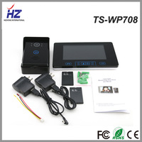 """Free shipping 2014 Luxury touch key 7"""" color wireless video interphone monitor & calling panel with taking photos & tamper alarm"""