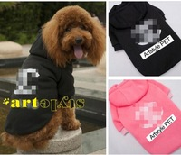 Super 100% cotton Pet dog clothes spring , Fashionable Hooded autumn Sports Hoody Jumper Puppy Jacket Coat Clothes For Dogs