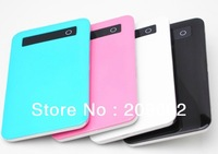 Free shipping good quality ultra thin 5000mah Power Bank portable external battery charger for Mobile phone for Tablet pc