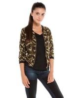 Brand Quality Women Camouflage printed chiffon Bomber Chiffon Jackets Lady Fashion Coats,  BL4037-Q03