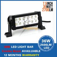 2 PCS 7.5 inch 36W 12V 24V Offroad LED Light Bar Heavy Duty 36 Watt Off Road Work Lamp Spot Flood Combo Beam Pattern LED Bar
