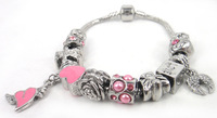 Free shipping New Fashion European Style Heart Lovers Charm Bracelet For Love Gift Jewelry