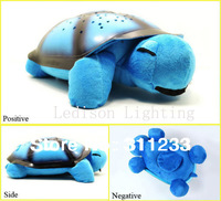 Turtle led Night Light Stars projector for children baby Lamp toy With 4 light,4 colors Christmas birthday gift