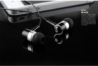 2014 New High Quality Metal 3.5MM Jack Stereo Bass In ear Headphone Earphone with Mic Headset for iPhone Samsung xiaomi EP080