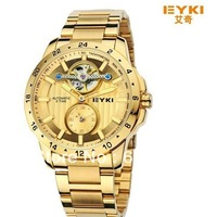 New EYKI Tyrant gold full steel brand fashion Casual mechanical watch,men dress sports tourbillon Business watch Holiday gift