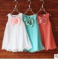 2014 summer new women's clothes Children sling princess dress Korean version of the big boy child veil cake dress