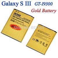 2850mah Gold Battery For Samsung Galaxy S3 S III GT i9300 GT-i9300 i9305 i747 Batterie Bateria Batterij Accumulator AKKU, 2 pcs