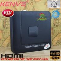 KENVS P2P 8CH NVR Smart Mini 1U Network Video Recorder HDMI/VGA Output 8Ch 1080P Support Smart Phone and Onvif NVR