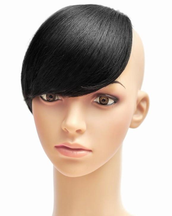 Fashion Girls Clip On Front Virgin Clip Bangs Human Hair Clips Brazilian Virgin Remy Hair 30g/pcs Black/Natural/Brown 5 Color(China (Mainland))