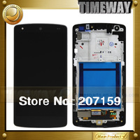 DHL 3pcs New For LG Google Nexus 5 D820 D821 Glass LCD Touch Digitizer Screen Frame Assembly OEM Replacement Free Shipping
