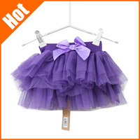 New 2014 Girls Fashion Summer  Lace mini Tutu Skirts Baby pettiskirt vestidos de menina Kids Clothes Princess Bow Skirt