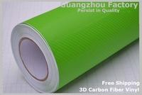 3D Carbon Fiber Vinyl Car Auto Fibre Sticker Vinyl Sheet car styling For Cruze/Chevrolet/Motorcycle/Mobile/Laptop Size 1.52*30M