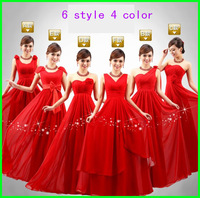 2014 new arrival The bride red bride dress  long design married lace up evening dress bandage party dress