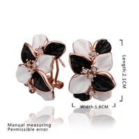 New Arrival Engagement Earring 18K Gold Plated Women Earrings Made With Genuine SWA Elements Austrian Crystal Jewelry SMTPE472