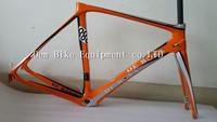 2014 RFM008 De Rosa D2 orange road track frame carbon road bike disc brake frame Mendiz road bike carbon saddle wheelset BB68