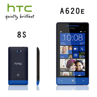 Original unlocked HTC Windows 8 Phone 8S A620e GPS WIFI 4.0''TouchScreen 5MP camera Win8  Cell Phone  Free Shipping Refurbished
