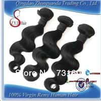 100% human hair product wavy hair weaves 12 to 26 inches body wave brazilian virgin hair 50g/pc hair weft 4pcs lot 50g/bundle