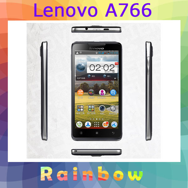 "free shipping lenovo A766 5"" Android 4.2 MTK6589m Quad Core 512mb ram 4GB ROM gps 3g mobile phones mulit language(China (Mainland))"