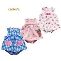 2014 summer carter baby girl Dress Romper, green ladybug girls jumpsuit, one piece sunsuit, freeshipping infant tutu