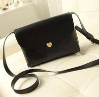 New 2014 desigual korea fashion cute Heart-shaped black  women  messenger bags girls crossbody shoulder handbags  promotion