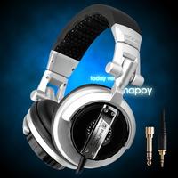 Somic ST-80 Professional monitor music headset hifi subwoofer   Enhanced Super Bass Noise-Isolating DJ headphone(silver)