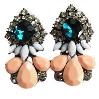 New arrive 2014 Hot sale earring women fashion shourouk Korean crysta statement stud Earrings for women jewelry wholesale