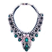 Wholesale shourouk Choker necklace crystal statement necklaces & pendants fashion chain bib shourouk Necklace for women