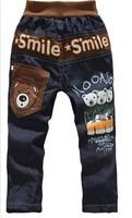 RETAIL Free Shipping new spring children cartoon trousers boy letter jeans boys cartoon denim pants children boy pants