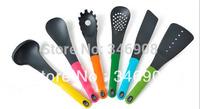 6pcs Nylon kitchenware with soft handle cooking tools kitchen utensils set