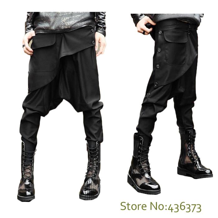 Black harem pants outfit men