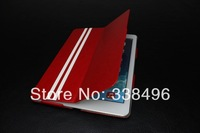 Newest 20pcs/Lot Fashion ultra thin PU Leather Smart Case for iPad Air ipad5 Cover, with stand,sleep/wake up function